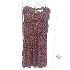 LOFT Mini Shoulder Tie Dress